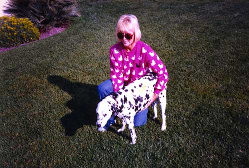 lady and dalmation